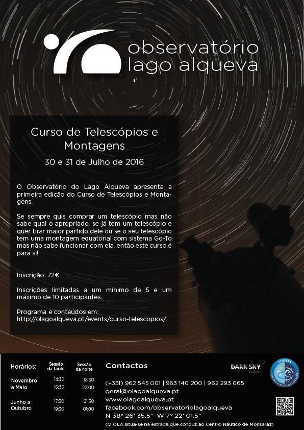 Curso de Telescópios e Montagens no OLA