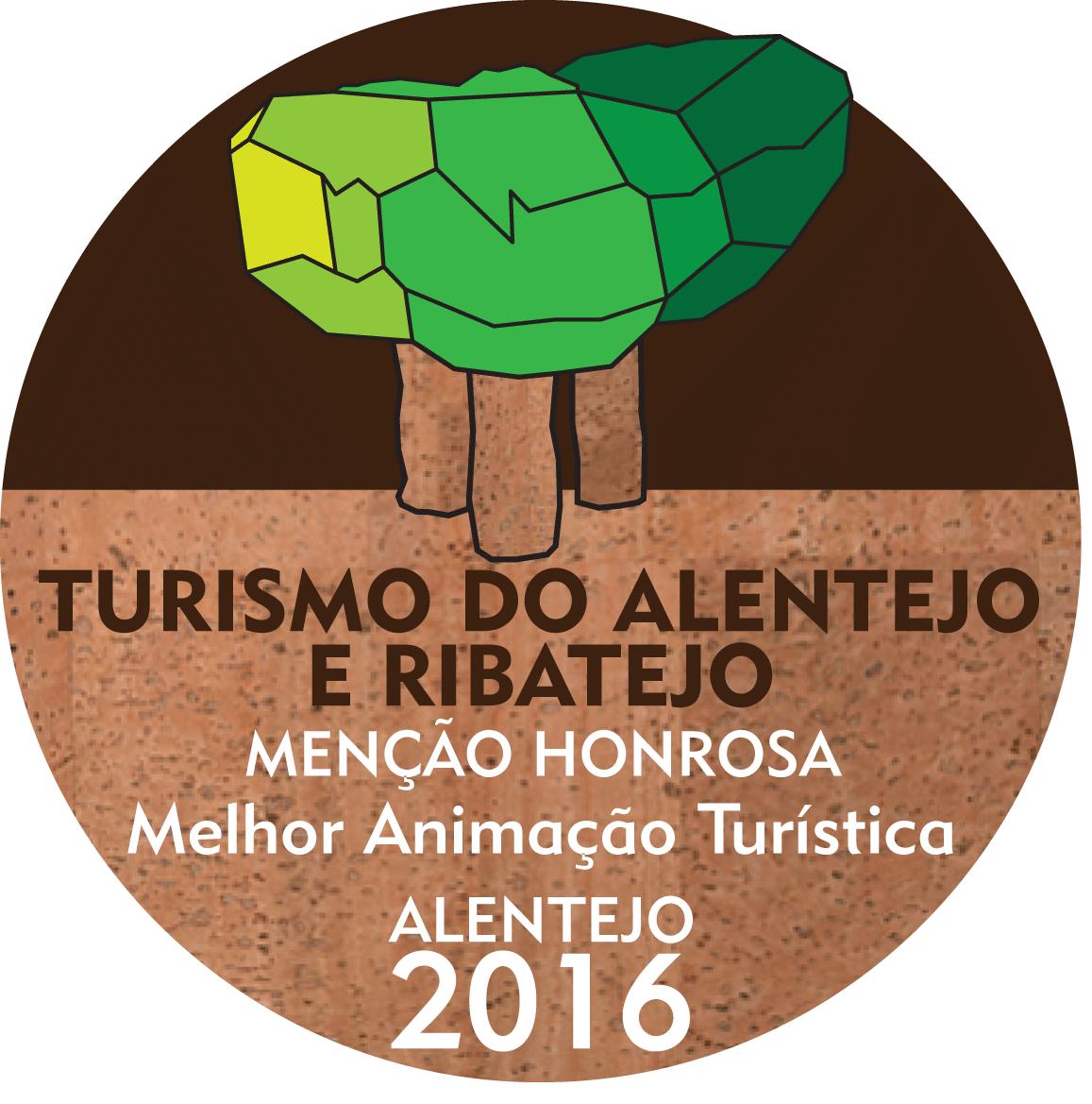 """Menção Honrosa na categoria """"Melhor Animação Turística 2016"""" nos Prémios Turísmo do Alentejo"""